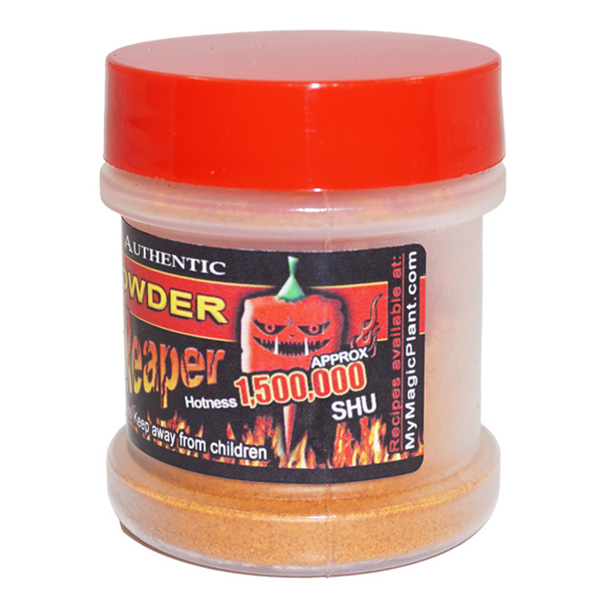 Carolina Reaper Pepper Powder in a Jar - left
