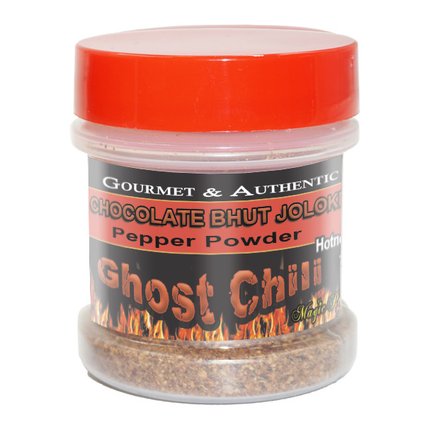 Ghost- Pepper Chocolate Powder Jar