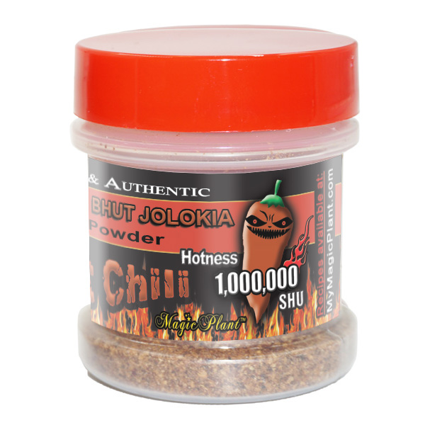 Ghost- Pepper Chocolate Powder Jar - left