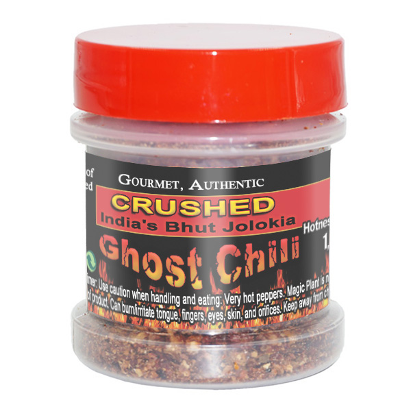 Ghost Chili Flakes in a Jar