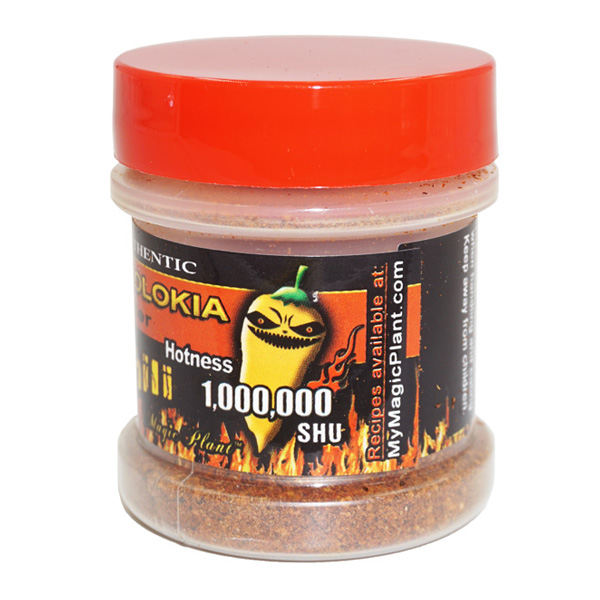 Ghost Chili Peach Powder Jar - left