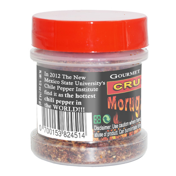 Trinidad Moruga Scorpion Flakes in a Jar - right