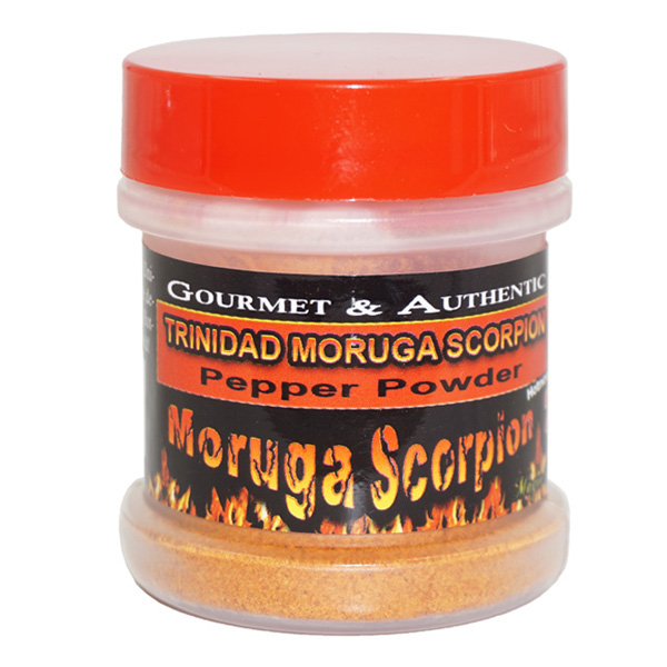 Trinidad Moruga Scorpion Pepper Powder in a Jar