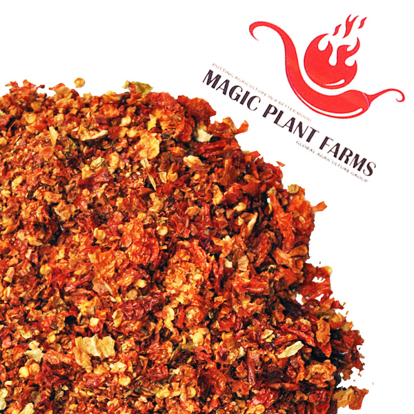 Bhut Jolokia Peach Flakes | Peach ghost pepper flakes