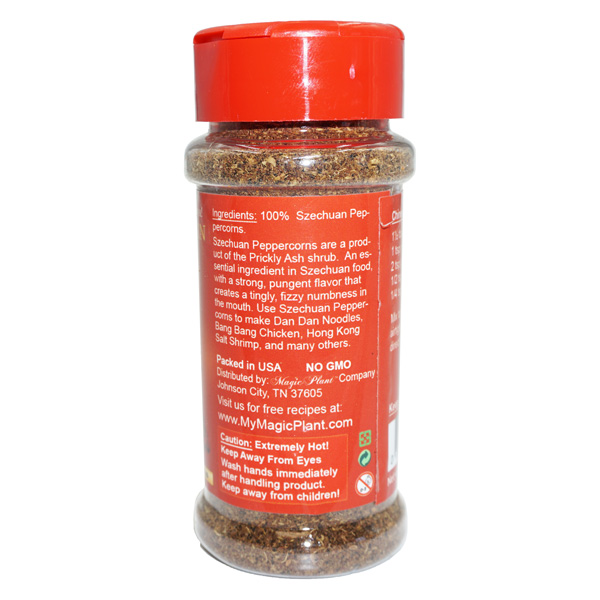 Chinese Pepper Powder in a Jar - left